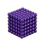 Beautychen Magnetic Cube 216pcs 3mm/5mm Magnets Blocks Magnetic Sculpture Holders Square Cube Children's Puzzle Magic Cubes DIY Educational Toys Kids Intelligence Development Stress Relief (Purple, 3mm)