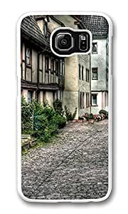 VUTTOO Rugged Samsung Galaxy S6 Edge Case, Old City Street Architecture Case for Samsung Galaxy S6 Edge PC Transparent