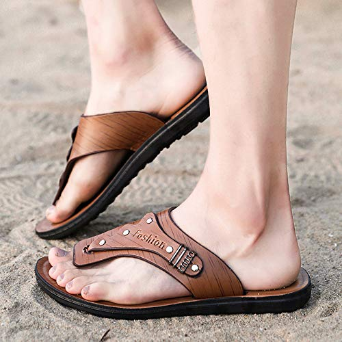 Hombres Calzado De Verano Zapatos Sandalias Zapatillas ALIKEEYHombre Casuales Playa Marrón Flip Pizca Flops 4YRqxwA8