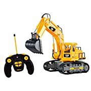 Amazon Lightning Deal 82% claimed: Top Race 7 Channel Full Functional RC Excavator, Battery Powered Electric RC Remote Control Construction Tractor With Lights & Sound (TR-111)