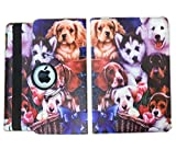 Dog IPad Case Cover Rotating Stand wiith Wake Up / Sleep Function Cover Case For iPad Pro 9.7 inch Model : A1673 , A1674 , A1675 or MM172LL / AA