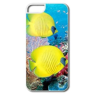 Custom Funny Silicone YY-ONE Sea Coral Reef Fish IPhone 5/5s Case For Friend