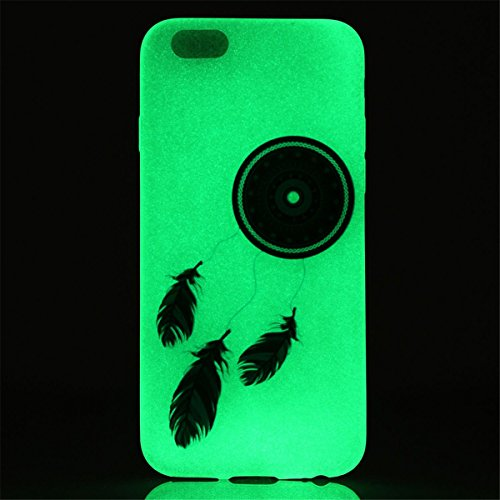 iPhone 6S Plus / iPhone 6 Plus Coque , Apple iPhone 6S Plus / iPhone 6 Plus Coque Lifetrut® [ Attrapeur de rêves ] Colorful Silicone Cover Glow dans l'affaire de la peau foncé Noctilucent Ultra Slim d