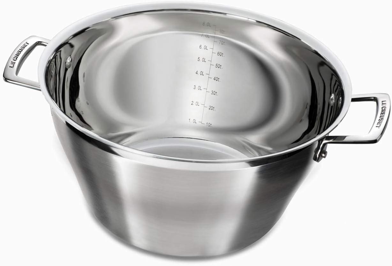 /Ø 30 cm acero inoxidable met/álico Le Creuset 3-Ply Cazuela para mermelada volumen 9,3 L incl. inducci/ón para todo tipo de fuentes de calor