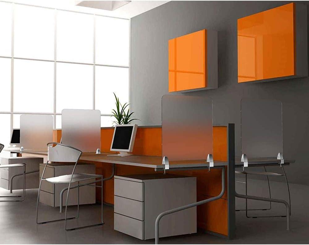 Klassenzimmer B/üros Bibliotheken Creechwa Mattierter Schreibtisch-Trennwand f/ür Studenten mattierte Acryl-Klemme 2 C-Form-SL Call-Centers