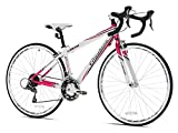 Giordano Women's Libero 1.6 Road Bike, Small, White/Pink Review