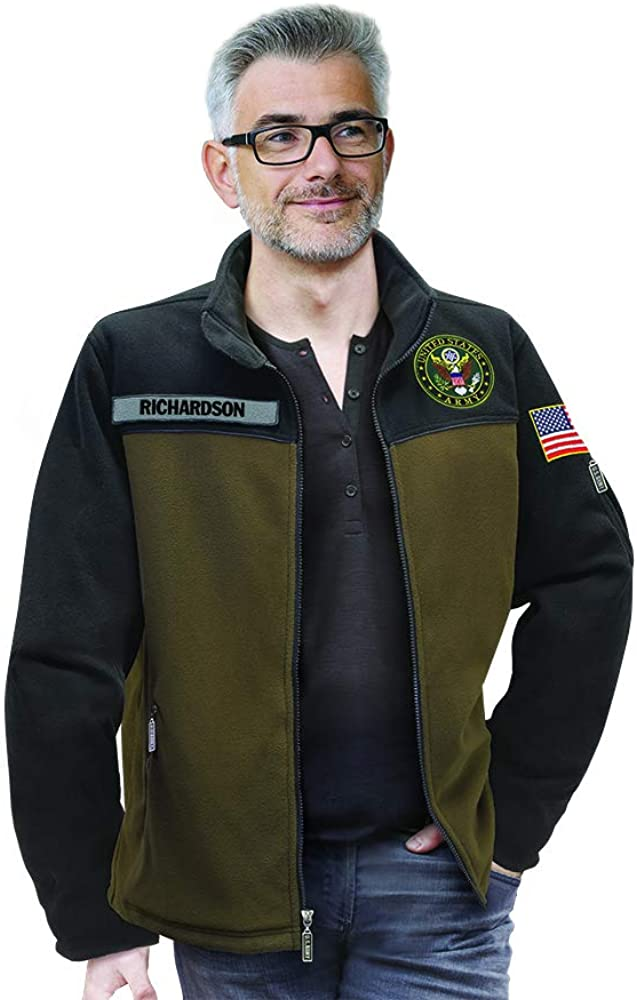 Military Gifts for Men-Personalized Fleece Military Gifts Gifts for Veterans U.S Military Fleece Jacket