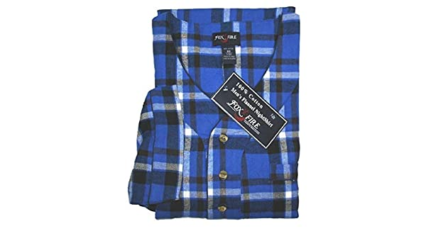 2b6428e1a0 Amazon.com  Big and Tall 100% Cotton Super Soft Flannel Night Shirts to 8X  in Assorted Plaids  Clothing