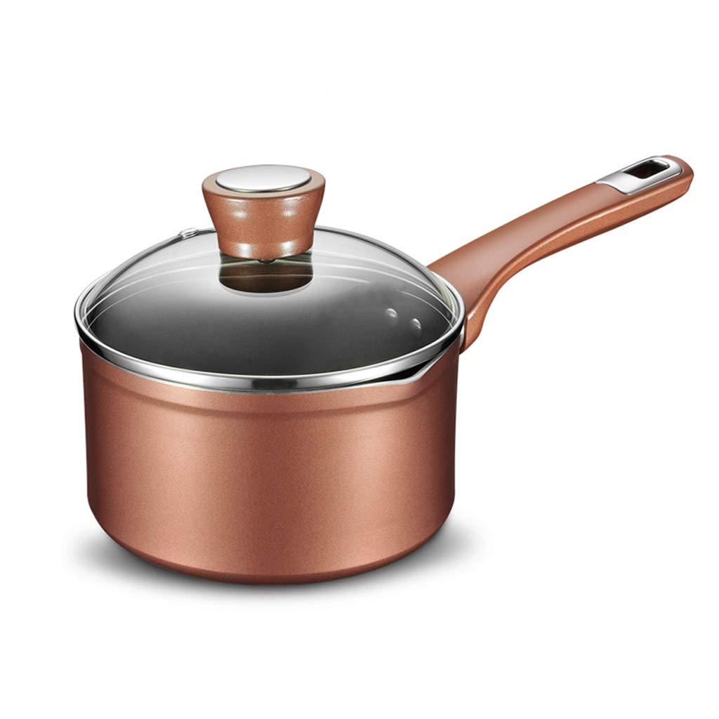 Acquisto Caffettiera- Vaso per Il Latte, Addensato, Antiaderente 16cm, Senza fumi, Adatto a fornello a induzione per 1 Persona, fornello Elettrico in Ceramica Universale (Colore : Brown) Prezzi offerta