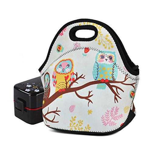Lunch Bags for Women Men Insulated Kids Neoprene Owl Bento Lunch Tote Bag Carrier Picnic Travel Outdoor Waterproof Lunch Box Storage - Things Take Need You To Camping