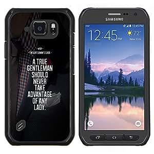 LECELL--Funda protectora / Cubierta / Piel For Samsung Galaxy S6Active Active G890A -- motivación ventaja caballero --