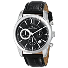 Lucien Piccard Men's LP-12356-01 Mulhacen Analog Display Japanese Quartz Black Watch