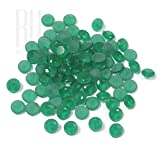 Be You Green Colour Crystal Glass AA Quality 10 mm Diamond Cut Round Shape 500 pcs loose gemstone