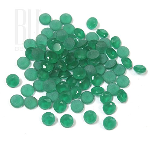 Be You Green Colour Crystal Glass AA Quality 1.5 mm Diamond Cut Round Shape 1000 pcs loose gemstone (Glass Shapes Gems)