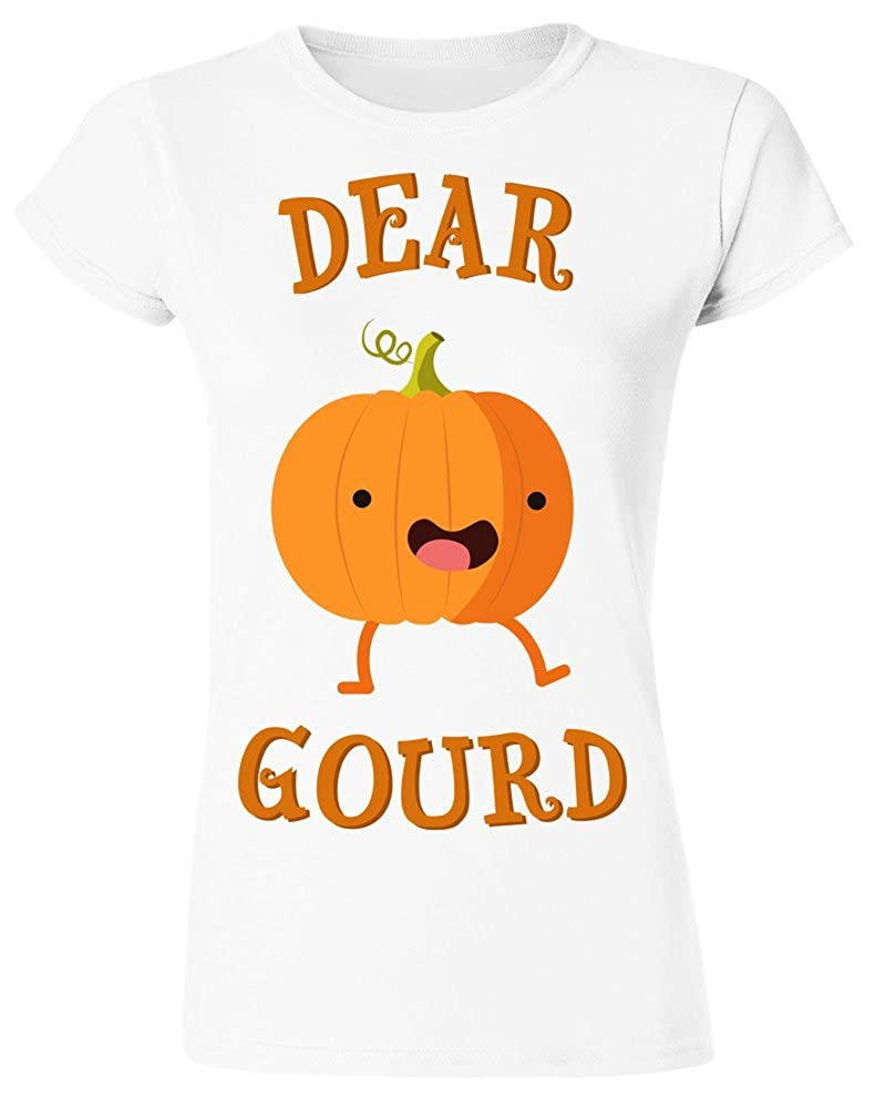 Dear Gourd Funny Cute Pumpkin Womens T-Shirt Extra Large White