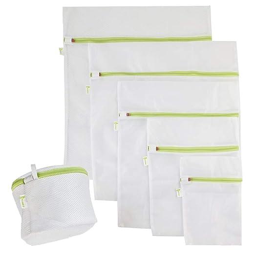 BRAMBLE! 6pcs Bolsas de Malla de Lavandería - Protección Completa, Multiuso, Durable Bolsas con Zip Cremallera para La Colada - Reutilizable Bolsa de ...
