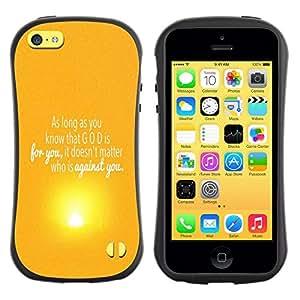 Suave TPU GEL Carcasa Funda Silicona Blando Estuche Caso de protección (para) Apple Iphone 5C / CECELL Phone case / / BIBLE God Is For You /
