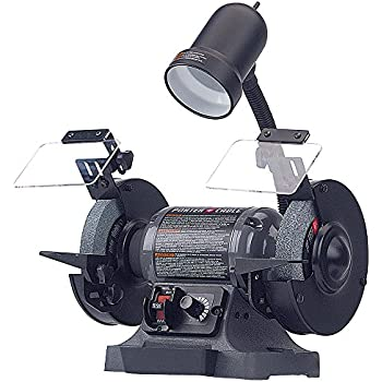 """Porter-Cable PCB525BG 6"""" Variable Speed Bench Grinder with Work Light"""