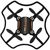 SUKEQ 2.4G 4CH 6AXIS HD Nightlights F19 Mini Drone Aerocraft , 360°Tumbling Headless Mode RC Helicopter, App Voice Control RC Quadcopter with Altitude Hold
