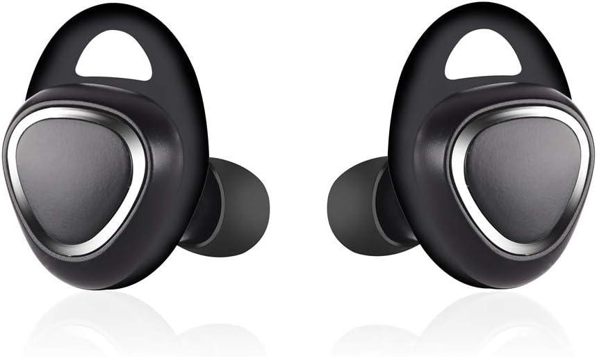 Sencillo Vida Mini Auricular Bluetooth Inalámbrico, Auricular Deportes Invisible Manos Libres y Cancelación de Ruido, In Ear Auriculares con Micrófono para Hacer Llamadas en Coche y Oficina