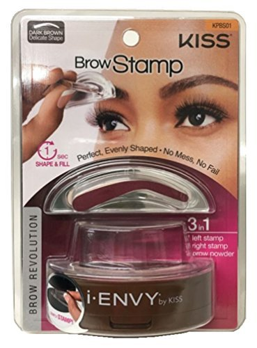 - Kiss i-envy brow stamp kit Dark brown Makeup, 1 Count