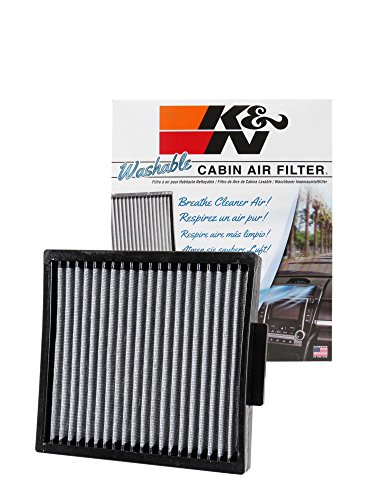 K&N VF2038 Washable & Reusable Cabin Air Filter Cleans and Freshens Incoming Air for your Dodge, Ram, Chrysler