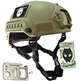ATAIRSOFT PJ Type Tactical Airsoft Paintball MICH 2001 Helmet With Side Rail & NVG Mount DE
