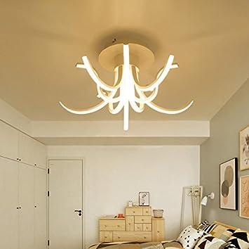 OOFAY Chandelier Petals alien led estudio moderno restaurante Acrylic Promise oscurecimiento Luz de techo, 10