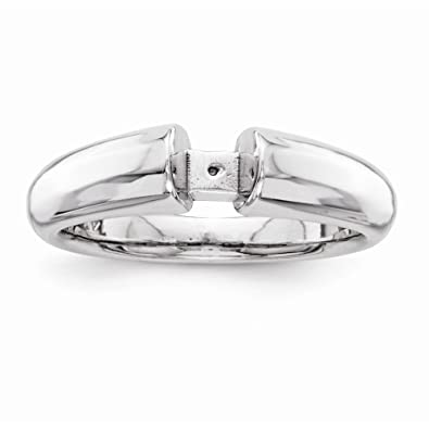 14k White Gold Peg Set Solitaire Ring Mounting Peg Set Head Can Fit Any Size Stone