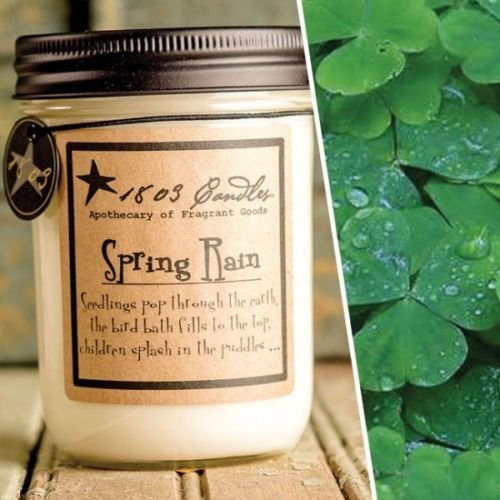 1803 Candles – 14 oz. Jar Soy Candles – (Spring Rain)