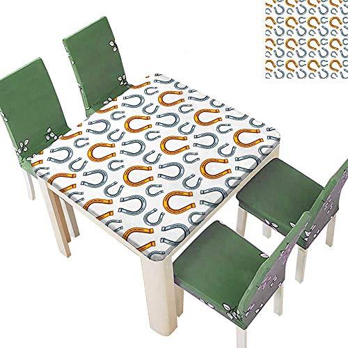 Printsonne Polyester Pattern hors Hoe Allover Golden Hope Ative for Kitchen Room 52 x 52 Inch (Elastic Edge)