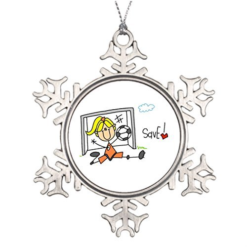 Metal Ornaments Ideas For Decorating Christmas Trees Goalie Makes The Save Family Personalized Snowflake -