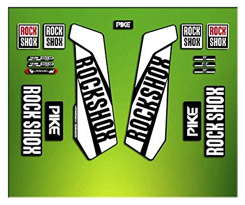 Pegatinas HORQUILLA ROCK SHOX PIKE 2016 ELX24 STICKERS AUFKLEBER AUTOCOLLANT DECALS BICICLETA CYCLE MTB BIKE 26 Y 27.5 (AMARILLO/ YELLOW) ELX STICKERS