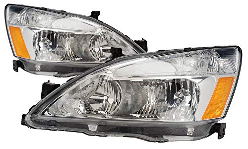 For 2003 2004 2005 2006 2007 Honda Accord/Hybrid Headlight Headlamp Pair Set Replacement