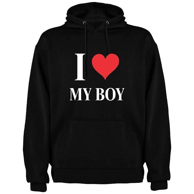 Dalim Sudadera con Capucha para Mujer I Love My Boy: Amazon.es: Ropa y accesorios