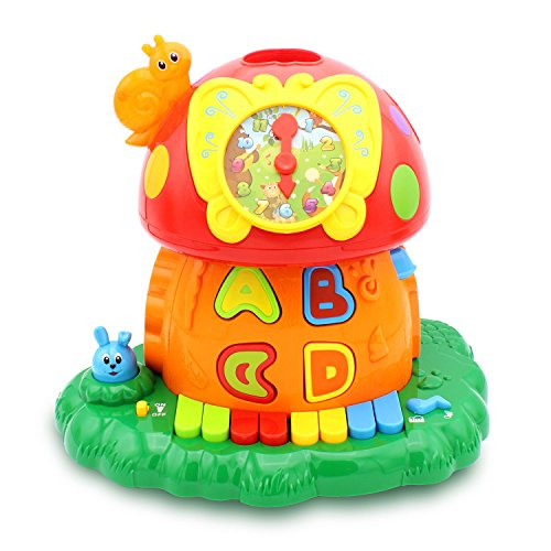 Kids Magic Mushroom House Electronic Baby STEM Toy Activity Center Developmental Game ABC Toys for Children Boys Girls