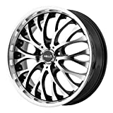 HELO HE890 Gloss Black Machined Face Wheel Chromium (hexavalent compounds) (20 x 8.5 inches /5 x 72 mm, 35 mm Offset)