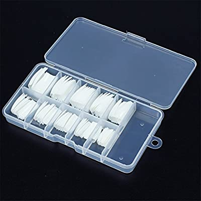 100Pcs French Style Fake Nail Tips With Case Well Cover False Nail Art Tip Artificial Manicure Salon Box