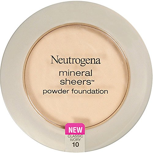 Neutrogena Mineral Sheers Powder Foundation, Classic Ivory [10], 0.34 oz (Pack of 3)
