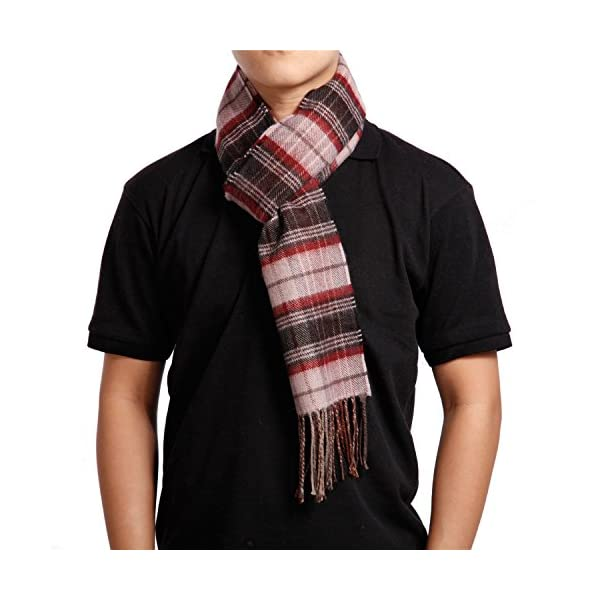 Saferin Men Women Winter Plaid Soft Elegant Cashmere Feel Wrap Scarf