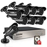 Best Bullet Surveillance Security Systems - ZOSI 8CH FULL 1080p HD-TVI Security Camera System,8 Review