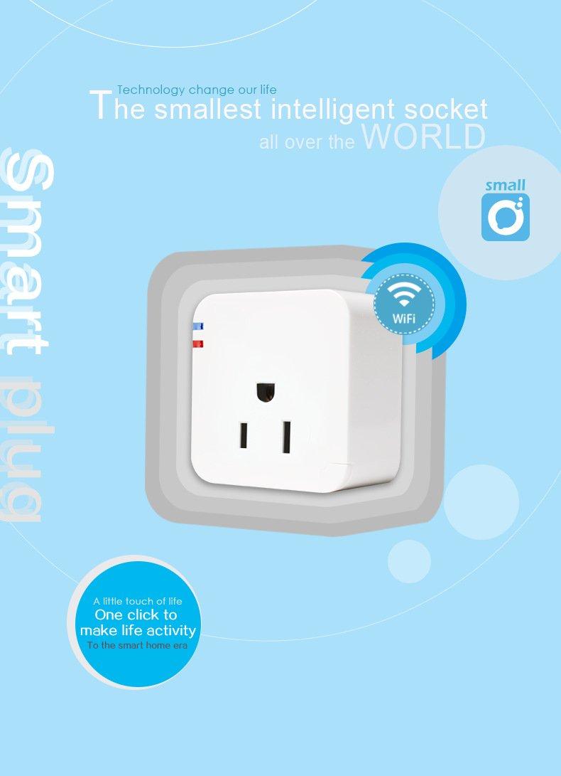 Intelligent Smart Wifi Plug Socket Wireless Switch Smart Plug Wifi ...