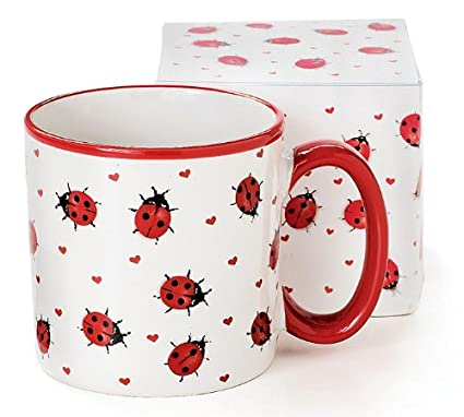 deb9146dfaa Amazon.com: Adorable Ladybug Coffee Mug Inexpensive Gift Item: Kitchen &  Dining