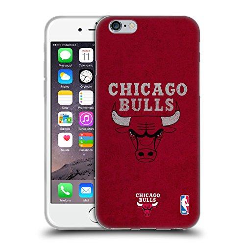 Officiel NBA Affligé Chicago Bulls Étui Coque en Gel molle pour Apple iPhone 6 / 6s