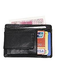 DUEBEL Money Clip, Front Pocket Leather Wallet, RFID Blocking Magnet Cash Clip