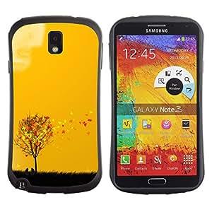 """Pulsar iFace Series Tpu silicona Carcasa Funda Case para Samsung Note 3 , Arte otoño Estaciones Amarillo Naranja Árbol Campo"""""""