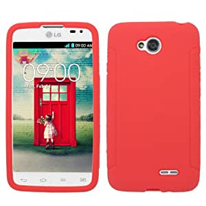 Silicone Red Soft Cover Gel Skin Case For LG L70 (Accessorys4Less)