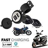 Spykart Bike Round USB Waterproof Mobile Holder/Charger - Assorted (Black)