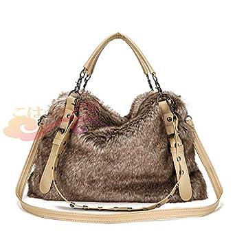332188a7001c Amazon.co.jp: かばん / レディースバッグ / ファッションバック 人工ファー冬 3way bag 冬人気モゴモゴグッズ: ホビー