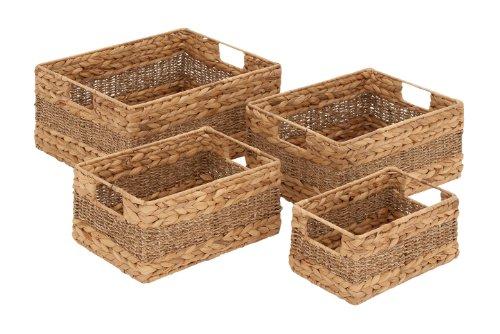 Deco 79 48969 Sea grass Basket (Set of 4), 16